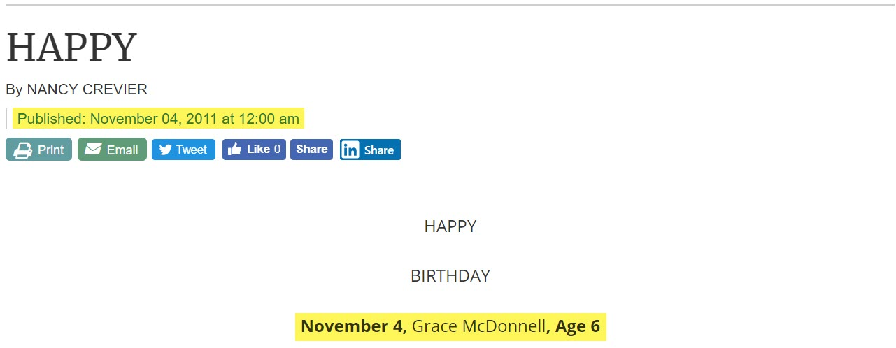 This image has an empty alt attribute; its file name is grace_mcdonnell_birthday.jpg